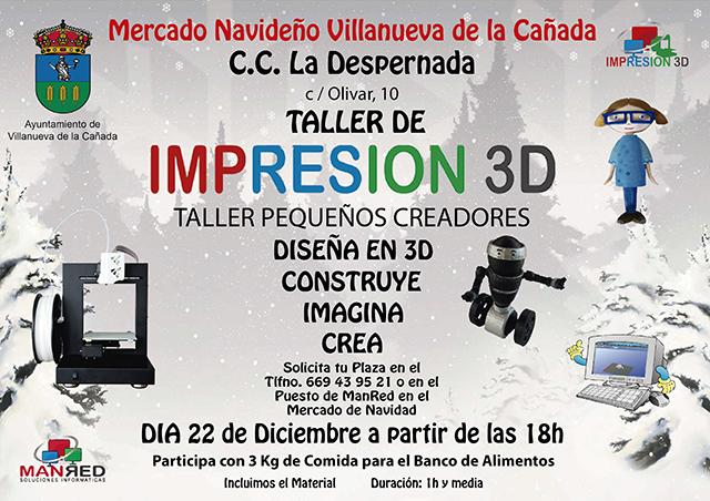 Taller Mercadillo Impresion 3D